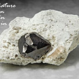 Bixbyite & Gem Pink Topaz on Matrix – Location: Thomas Range, Juab Co., Utah. BOX01