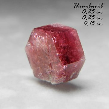 Red Beryl (also sometimes called Bixbite) – Location:  Thomas Range, Juab Co., Utah.   BOX04