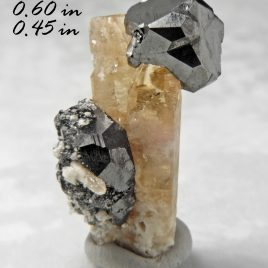 Bixbyite & Gem Pink Topaz – Location: Thomas Range, Juab Co., Utah.    BOX03
