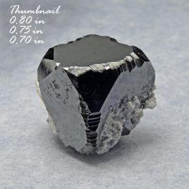 BOOK_SPECIMEN-Bixbyite (Large Crystal) (0.80 in) – Location: Thomas Range, Juab Co., Utah.