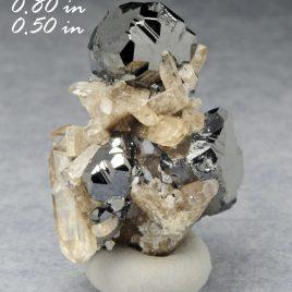 BOOK_SPECIMEN-A+ Bixbyite Cluster & Gem Pink Topaz – Location: Thomas Range, Juab Co., Utah.