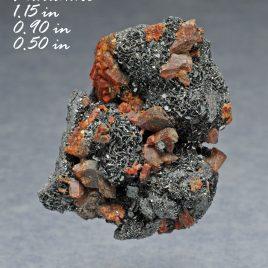 BOOK_SPECIMEN-Very Rare Durangite Crystals with Hematite – Location: Thomas Range, Juab Co., Utah.