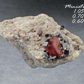 BOOK_SPECIMEN-Red Beryl & Bixbyite on Quartz and Rhyolite Matrix – Location: Thomas Range, Juab Co., Utah.