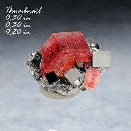 BOOK_SPECIMEN-Rare Raspberry Red Beryl (also sometimes called Bixbite) with several bixbyites. – Location: Thomas Range, Juab Co., Utah.